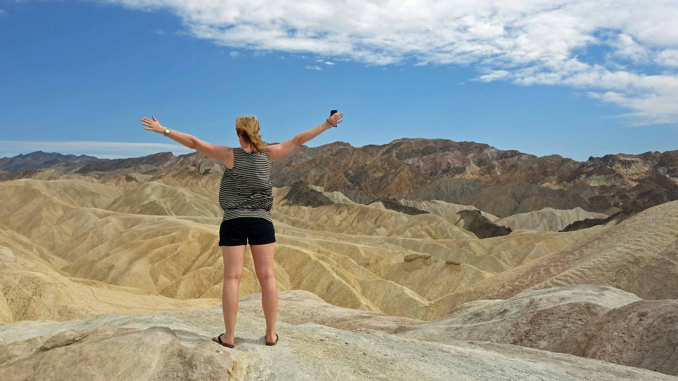 Aussicht am Zabriskie Point im Death Valley
